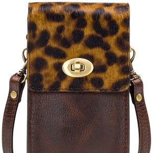 NEW! Patricia Nash Calf Hair Leopard  Phone Case